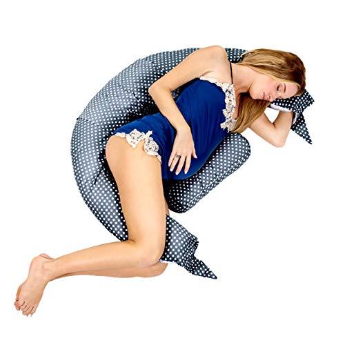 Cuscino Maternitàper Dormire e Cuscino Allattamento con Supporto Lombare, Cervicale e Pancia Cuscino Premaman con di Lacci di Sicurezza, Culla, Riduttore Lettino KHugs PLUS
