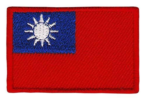 Bestellmich Republik China Taiwan Flagge Klein Aufnäher Bügelbild Größe 4,5 x 3,0 cm