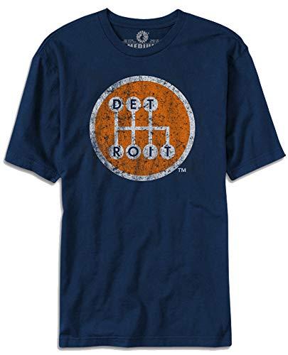 Made In Detroit Shirt - Shifter - Navy w/Orange - XL