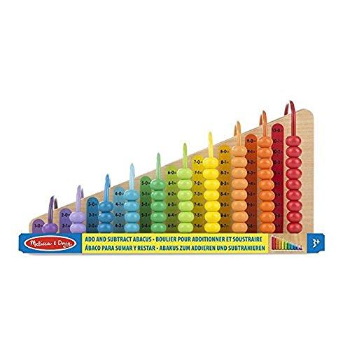 Melissa & Doug- Add & Subtract Abacus Ábaco suma y resta, Multicolor (19272) , color/modelo surtido