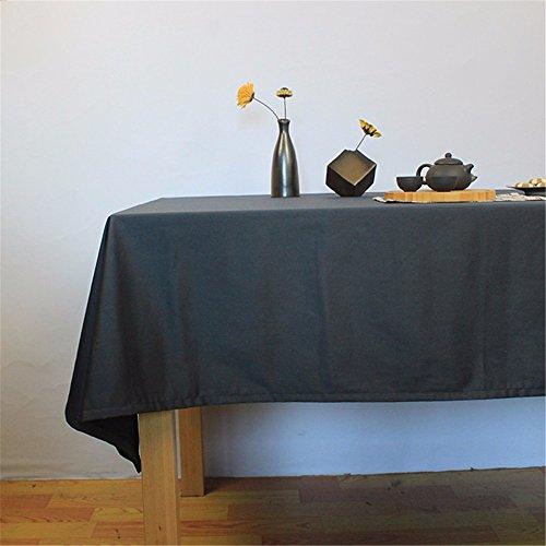 WanJiaMen'Shop Minimaliste et Moderne, Tissus Gris rectangulaire nappes, nappes résistantes Square Bar Dark,Nappe 140 * 180cm
