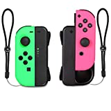Mini Charging Dock Chargerfor Nintendo Switch Joy-Con with Low Battery Reminder and LED Charger Indicator - Black, 2 Packs