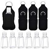 6 Pezzi Bottiglie di Plastica da Viaggio, Contenitori per Bottiglie Vuoti Trasparenti, Supporti Portachiavi Bottiglia da 30 ml per Forniture da Viaggio All'aperto
