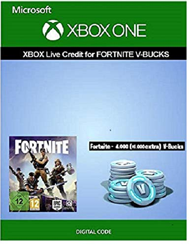 Xbox Live Guthaben für Fortnite - 4.000 V-Bucks + 1.000 extra V-Bucks | Xbox One - Download Code