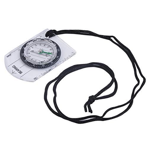LovelysunshiDEany Mini Grundplatte Kompass Karte Maßstab Lineal Outdoor Camping Wandern Radfahren Scouts Military Compass - Transparent & Schwarz
