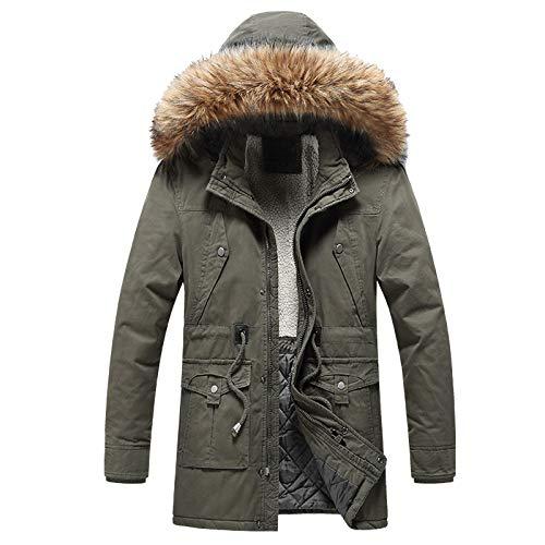 Men's Mountain Waterproof Ski Jacket Windproof Rain Winter Warm Snow Coat Windbreaker Hooded Raincoat Snowboarding Jackets with Removable Fur Hood
