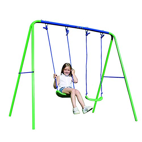 My Swing Play 21 Columpio Infantil Doble, Verde y Azul