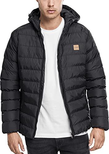 Urban Classics Basic Bubble Jacket Homme, Noir (blkblkblk), M