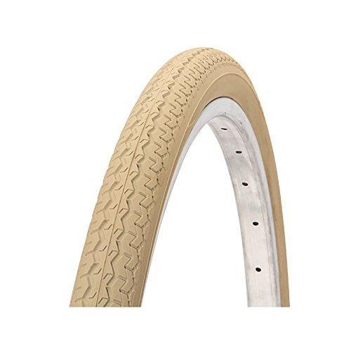 Ciclosport - Cubierta para rueda de bicicleta de paseo (26'' x 1 3/8), color a elegir entre rojo, amarillo, verde, azul, rosa, azul claro, violeta, crema, negro y blanco Crema