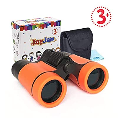 Binoculars for Kids, Shock Proof Children Telescope, Christmas Thanksgiving Gifts for 6-7 Year Old Boy, 4-6 Year Old Boy Toys Party Favors for Kids (Orange)