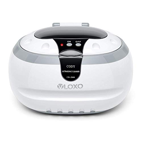 VLOXO Ultrasonic Cleaner Sonic Jewellery Cleaner Machine 600ml 50W Ultrasonic Bath with Cleaning Basket for Jewelry Silver Rings Necklace Shavers Dentures Glasses Watches Coins Razors Tattoo Tools