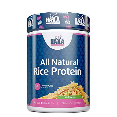 Haya Labs 100% All Natural Rice Protein Unflavored 454g