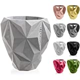 concrette Macetero de Cemento, Maceta de hormigón geométrico, diámetro de 13 cm, diámetro de 19 cm, diámetro de 24 cm, 17 Colores