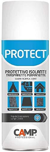 Camp Protect Spray Protettivo Isolante Per Plastica, Legno, Ceramica e Metalli, Trasparente, Plastificante, Anti-Ossidante e Impermeabilizzante