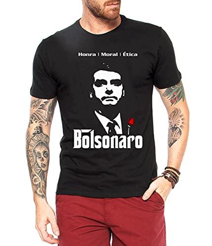 Camisa Bolsonaro Honra Moral e Ética Camiseta Blusa Preta (G)