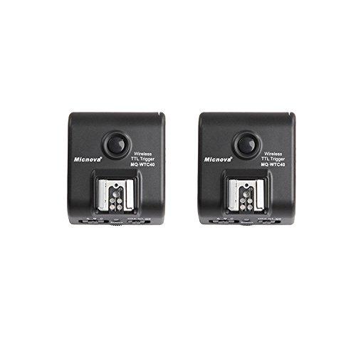 Micnova MQ-WTC40 Wireless E-TTL II Flash Trigger/Shutter Release Combo Kit for Canon EOS 70D, 60D, 50D, 7D, 6D, 5D, 1D, Digital Rebel SL1, T6i, T6s, T5i, T4i, T3i DSLR Cameras (328-foot Range)