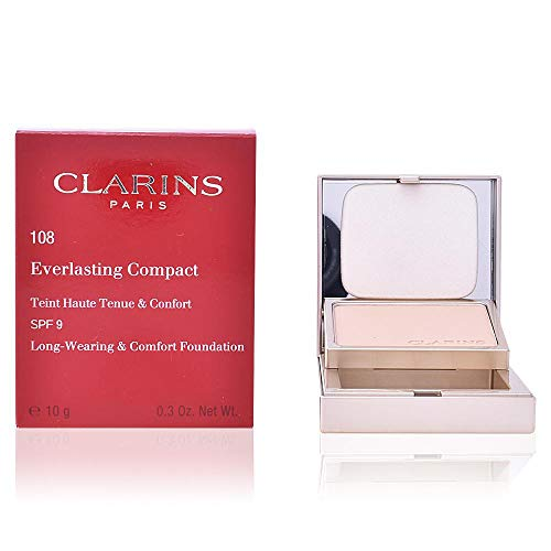 Clarins Everlasting Compact Foundation, 108 Sand, 10 g