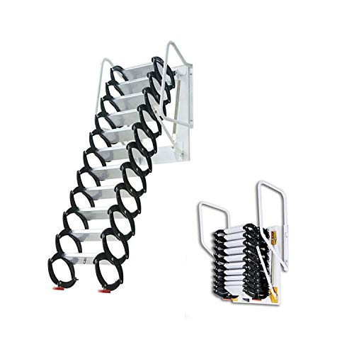INTSUPERMAI Attic Loft Ladder Stairs Loft Wall Folding Ladder with