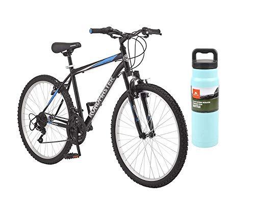 Roadmaster 26' Men's Granite Peak Bike with Teal Bottle (Black/Blue, Men)