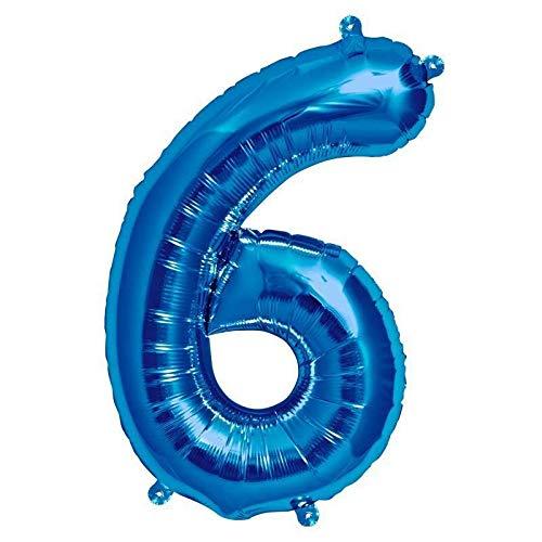 Northstar Balloons Ballon Aluminium Chiffre 6 Bleu 16\