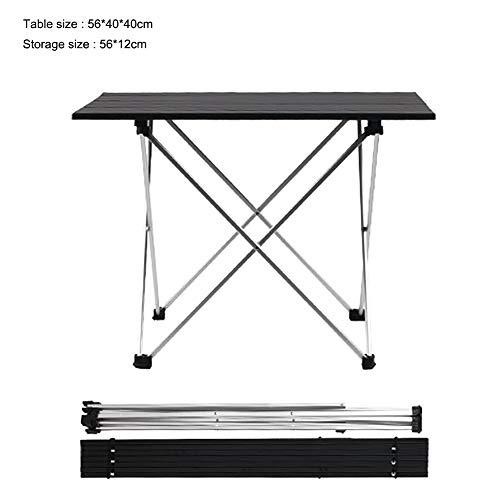 VSTAR66 zusammenklappbarer Grilltisch, leicht, tragbar, Aluminium, vielseitiger Picknicktisch für Strand, Reisen, Hinterhof, Party. Large Schwarz