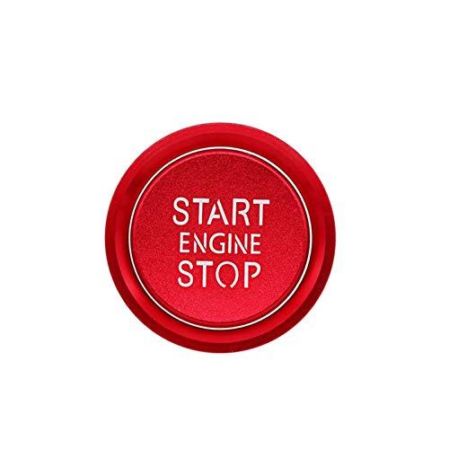 Lanrui Anillos De Botón De Parada De Motor De Motor con Tapa para Audi A4 S4 A5 S5 A6 S6 A7 S7 A8 S8 Q5 Q7 Cubiertas De Decoración De Aleación De Aleación De Aluminio (Color : Red)