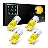 SIRIUSLED AG Super Bright 300 Lumen Ultra Compact LED Interior Light Bulb Size 168 175 194 2825 Pack of 4 Color Orange/Yellow