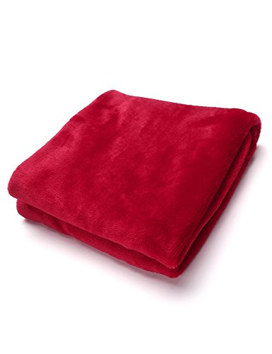 Tiowea warme dikke flanel sofa Throw blankets op bed Home sprei 50X70CM rood