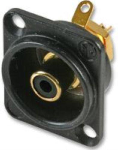 Neutrik NF2D-B-0 - Cinch Einbau-Buchse,schwarz
