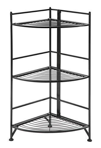 5-Tier Corner Shelf, Turn-N-Tube Corner Storage Shelf Multi-Functional Bookshelf Corner Shelving Unit for Home Office White 18.7 x 54.33 inch