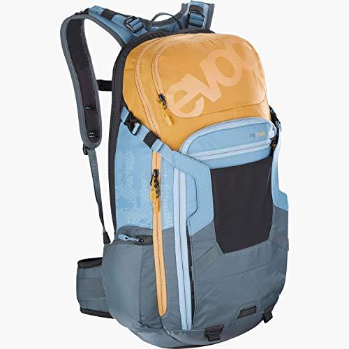 EVOC FR TRAIL 20 Protektor Rucksack Backpack für Bike-Touren & Trails (20L Stauraum, LITESHIELD Rückenprotektor TÜV/GS zertifiziert, Trinksystemaufnahme bis 3L)