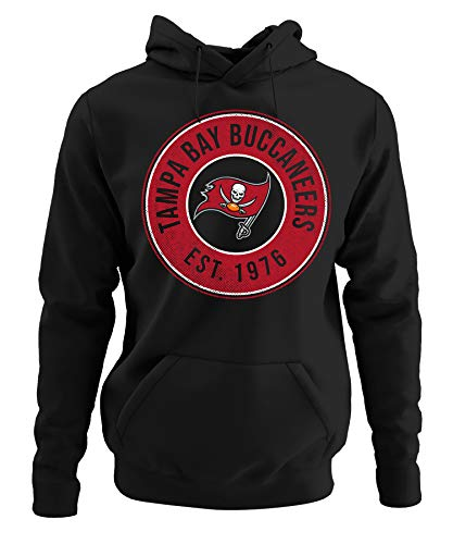 Quattro Formatee Kansas-City Chiefs vs. Tampa-Bay Buccaneers Playoffs American Football NFL Super Bowl 55 Bucs Pullover Hoodie Kapuzenpullover | Schwarz | L