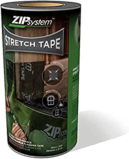 Huber ZIP System Stretch Tape   10 inches x 20 feet   Self-Adhesive Flexible Flashing for Doors-Windows