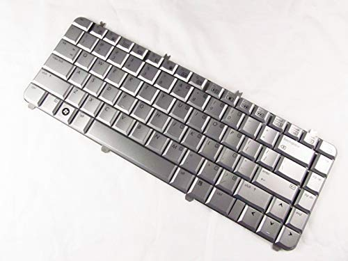 KinFor Product,Laptop Keyboard for HP Pavilion DV5-1000 DV5-1125NR DV5-1002NR Keyboard Silver + Clear Protector Cover