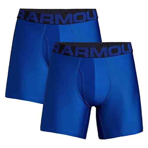Under Armour Men's Tech 6-inch Boxerjock 2-Pack , Royal/Academy Blue , Medium
