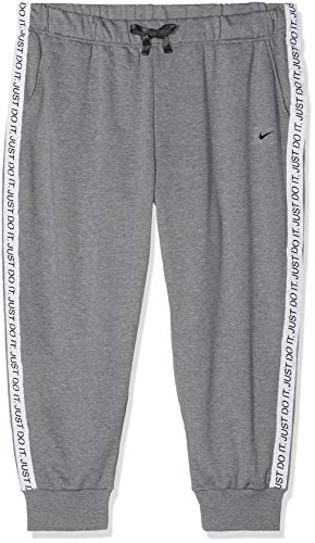 Nike Damen Dri Get Fit Tight, Carbon Heather/Black, M