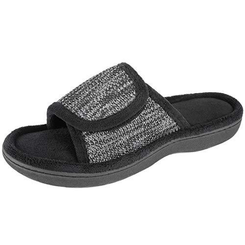 RockDove - Zapatillas de espuma viscoelástica ajustable para mujer, Negro, 11-12