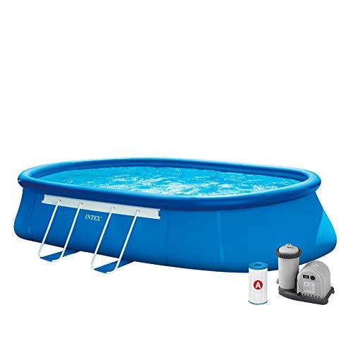 Intex 28194. Pool oval 610x 366x 122cm I.1Filterpumpe, Leiter Doppel, Tuch base-copertura