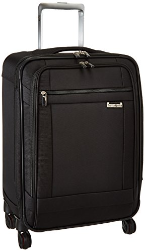Samsonite Solyte Softside Expandable Luggage with Spinner Wheels, Black, Carry-On 20-Inch