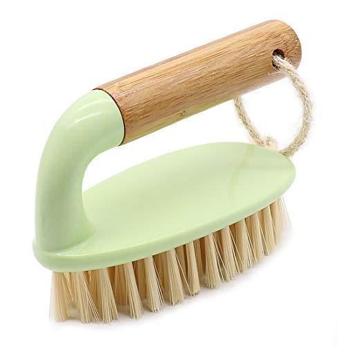 お風呂掃除ブラシ バスタブブラシ 浴室掃除用 風呂掃除 フロア ベランダ/玄関/床/壁にも適用 (グリーン)