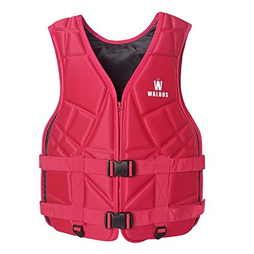 XSJK Verano Chalecos Salvavidas para Adultos y jóvenes,Flotabilidad Chaleco de Impacto de Seguridad Chaleco Salvavidas,para natación Pesca Rafting Botes acuáticos Deportes Acuáticos,Rojo,XL