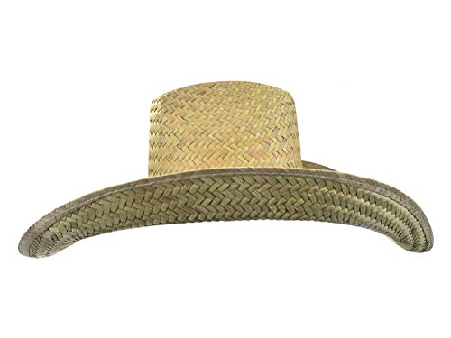 Jacobson Hat Company Oversized Waster 7 Inch Brim Hat Natural Straw Giant Western Sheriff Cowboy