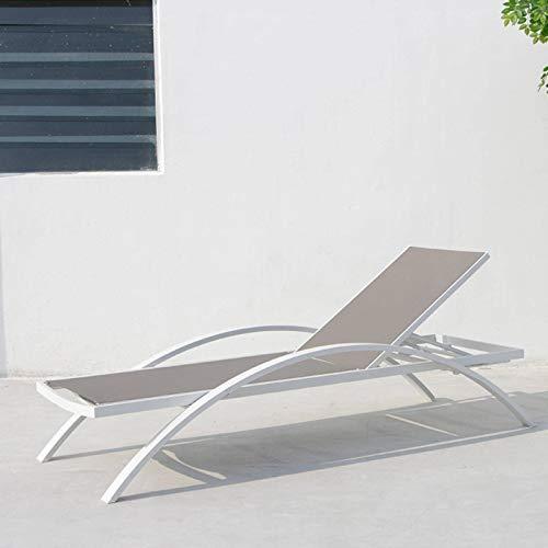 N-B Silla de playa al aire libre, silla de playa Teslin de la piscina del mar, con reposabrazos, cama de ocio.