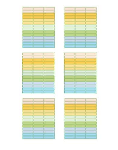 Lotto di 252 Etichette per Penne Etichette scolastiche Etichette autoadesive per penne 45 X 10 mm Etichette Nomi Etichette autoadesive matite mini etichette