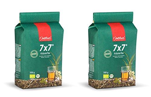 2 x Jentschura 7x7 KräuterTee 500 g ( 1KG) in Bio-Qualität (10 Proben gratis)