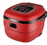 L.BAN Fornello di Riso Elettrico Intelligente da 2,5 Litri Mini Cottura a Vapore 220V Macchina per Yogurt Macchina per Dolci per 1-4 Persone Appuntamento 24 Ore su 24, Rosso