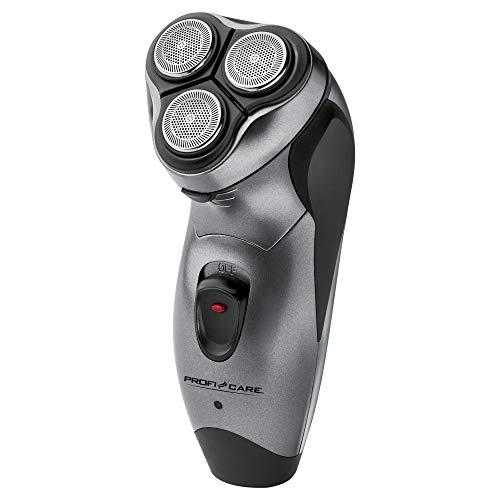 ProfiCare Afeitadora PC-HR 3053 para hombre, sistema de afeitado de 3 niveles con cabezales flexibles, carcasa Soft Touch, gris