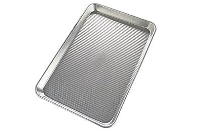 USA Pan Bare Aluminum Jelly Roll Pan, 14.25x9.5, Metal