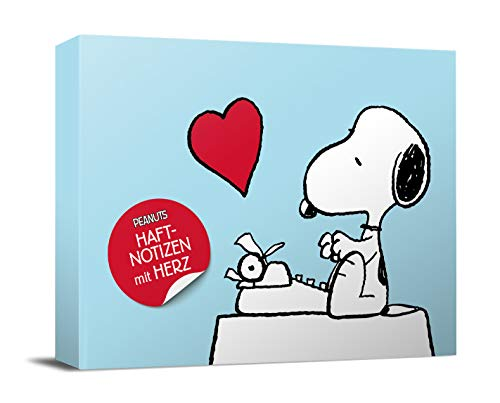 Peanuts Haftnotizen mit Herz: Notizzettel-Box (monbijou)