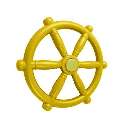 Piratenschiff-Rad für Kinder, Klettergerüst, Garten, Kinderspielzeug, Freizeitpark, Schaukel, Zubehör, Spiel, Dschungel, Fitnessstudio, Sth Spielplatz (gelb)